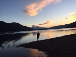 西湖でスイミング