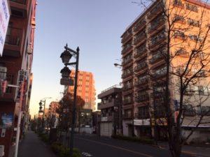 禅道会小金井道場朝クラス 朝焼け